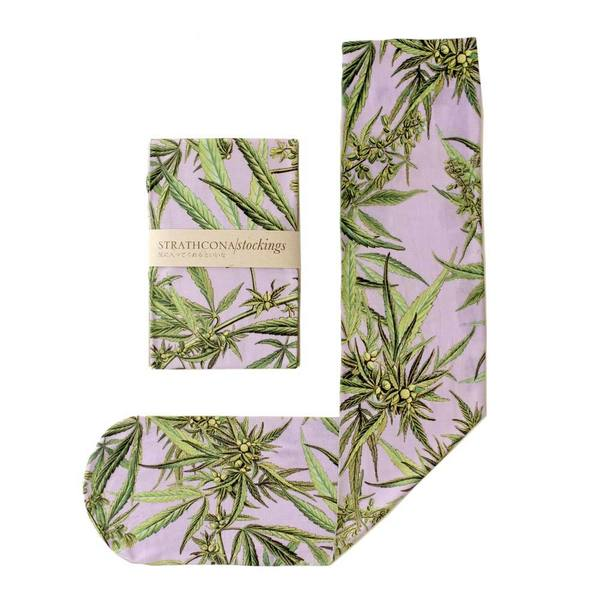 Strathcona Stockings Purple Mary Jane Socks