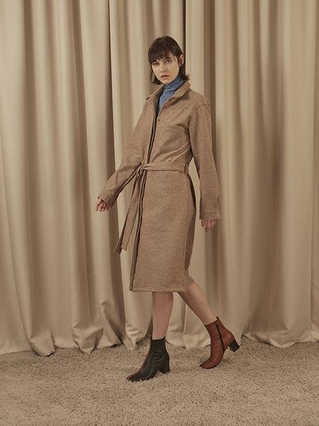 EOM Wool Shirts Dress - Mocha Brown