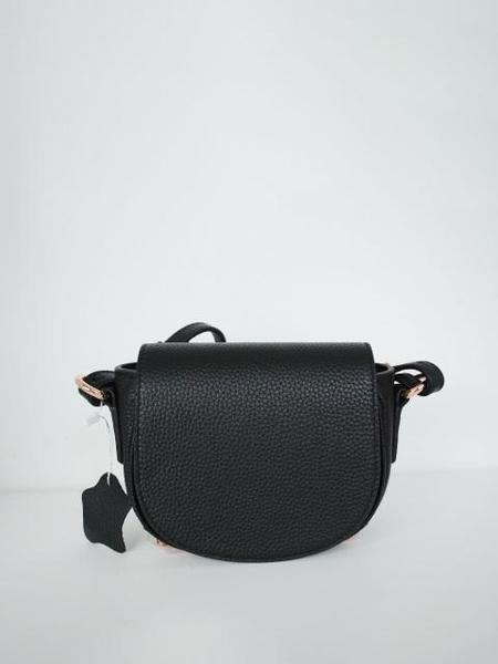 AYIHOLIC CASHMERE Leather Small Cross Bag - Black