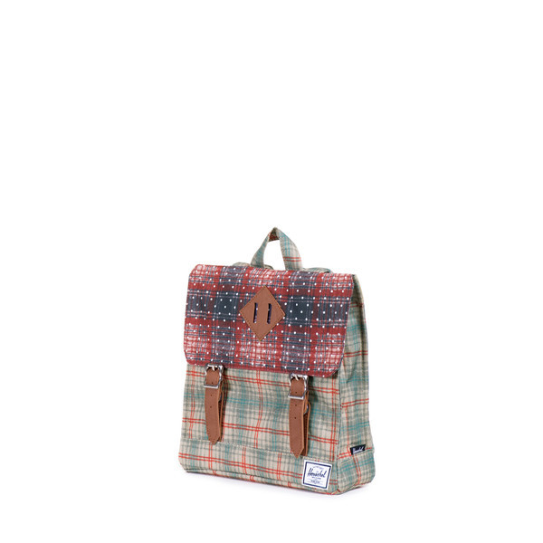 Kid's Herschel Survey Rust Plaid Backpack
