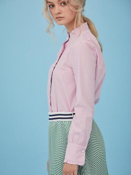 ANSWERING BIRD Ivy Frill Shirts - Pink