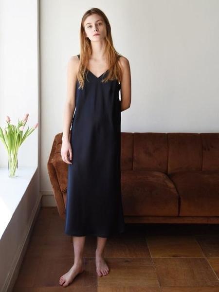 Add Robe Midi Slip Dress - Navy