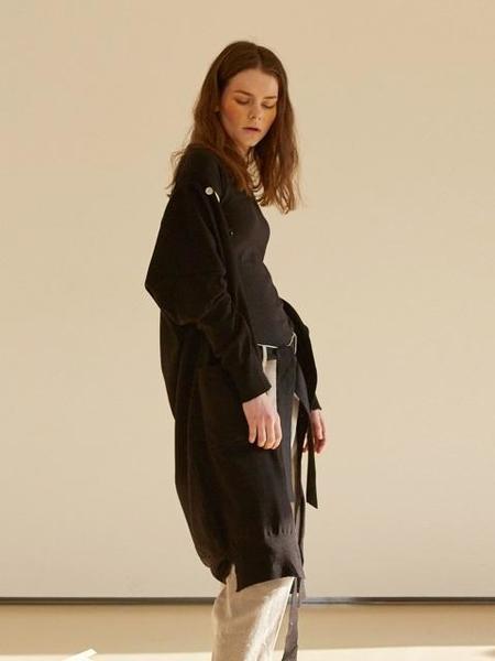 J.CHUNG Chic Wool Cardigan - BLACK