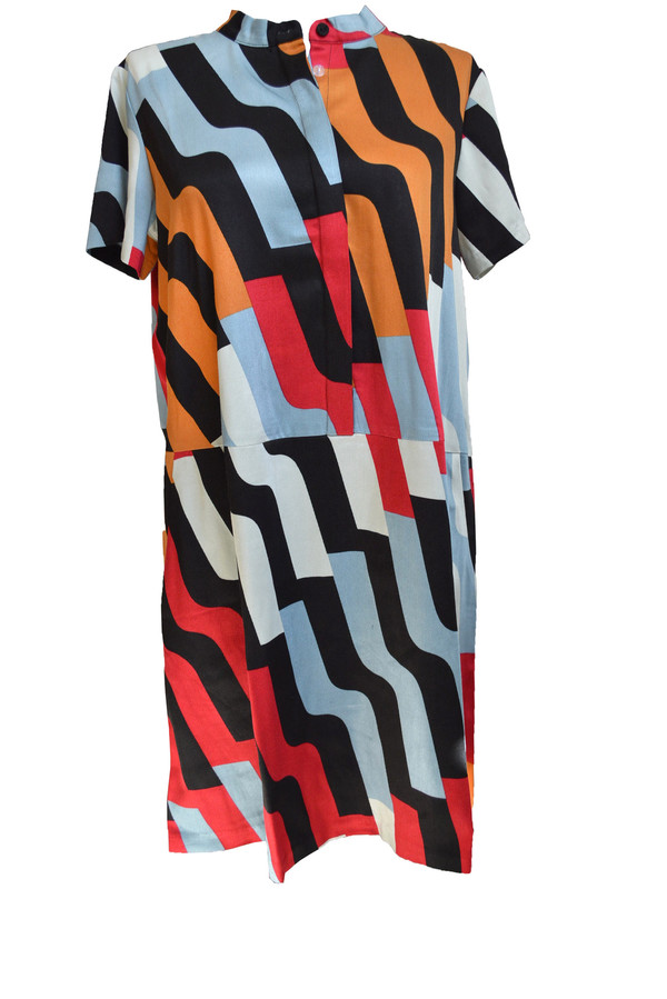 Dusen Dusen Oversize Tee Dress in Pivot Print