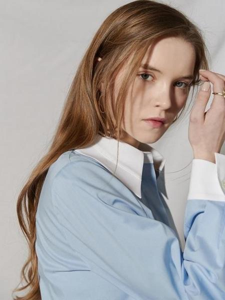 CLUE DE CLARE Cleric Shirt - Blue