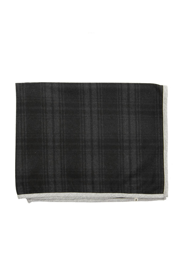Bridge & Burn Oxbow Wool Warp Scarf Charcoal Plaid