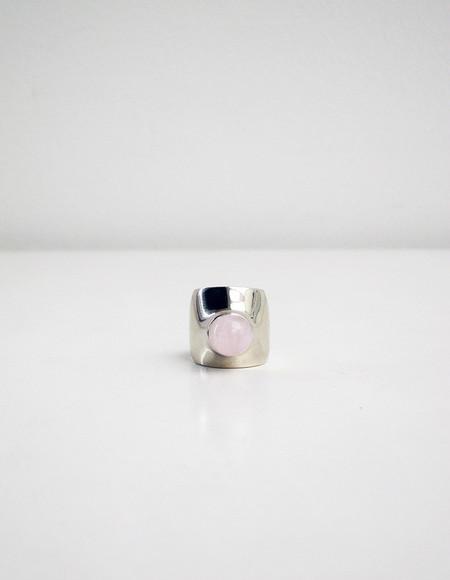 Quarry Leyron Ring, White Bronze/Rose Quartz