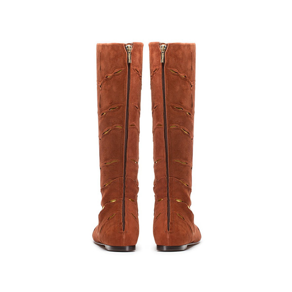 Bavaud Design Hiboka Over The Knee Laser Cut Boot