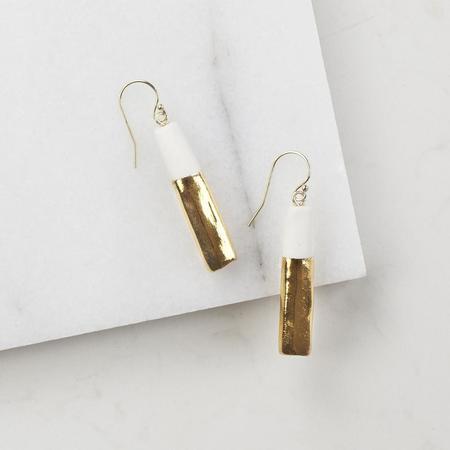 Amber E Lea Gold Dipped Earrings