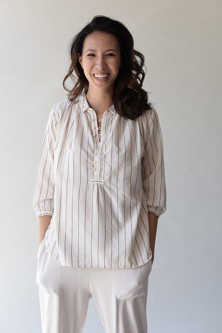 Bsbee Linda Shirt - Brown Stripe