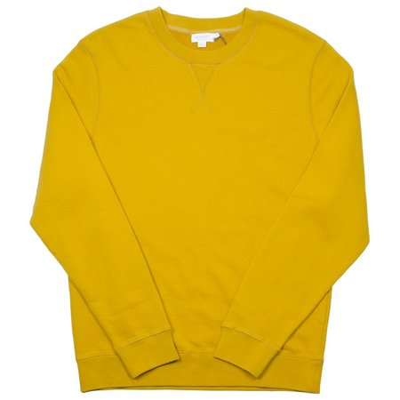 Sunspel Loopback Sweatshirt - Turmeric Yellow