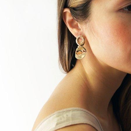Odette New York Bassin Earrings - Brass
