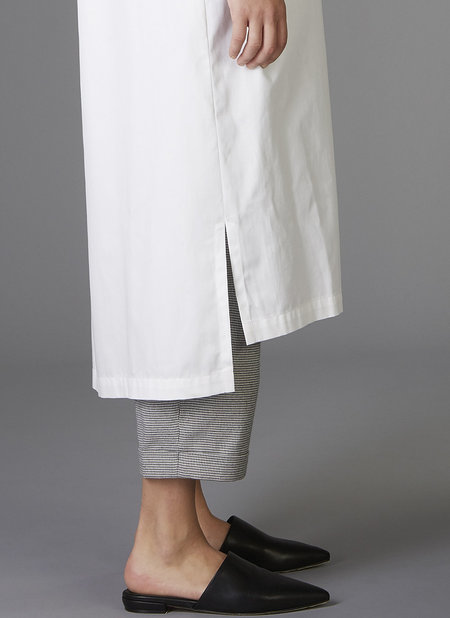 GREI Two Pocket Shirt Dress - WHITE