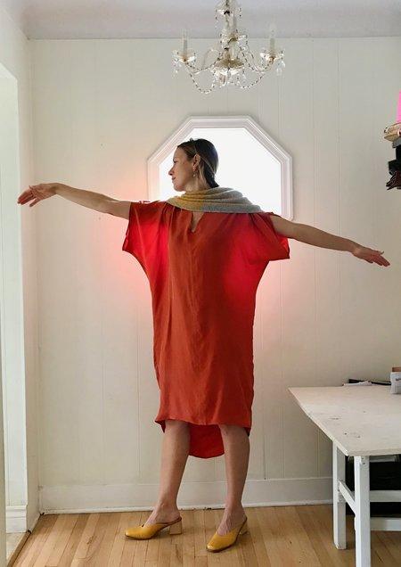Priory Cocoon Dress - Orange