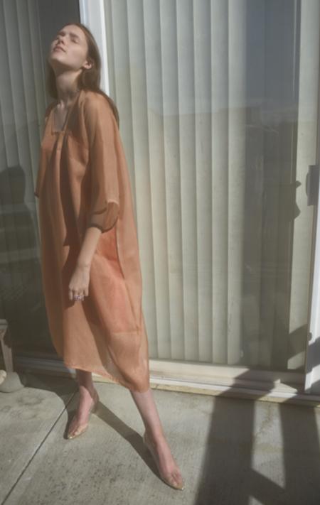Bianca and Red Studio Wave Dress - Peach