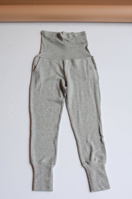 Beautiful People Brushed Jersey/Rib Track Pants - Heather Grey