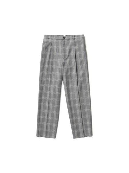 YOUTH Pleated Tapered Pants - Grey Check