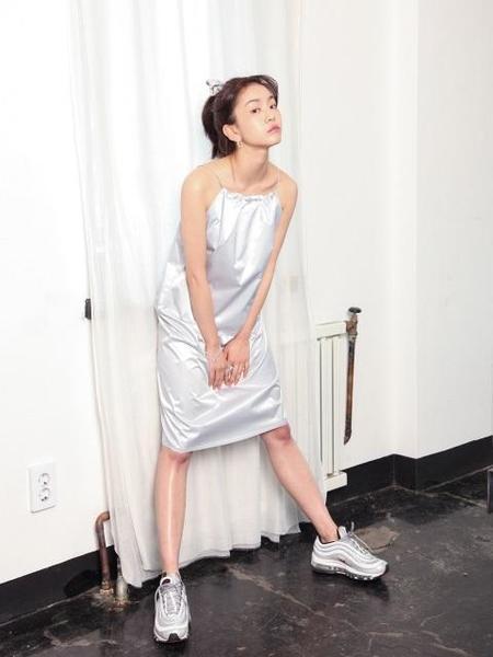 HALOMINIUM Loop Dress - Silver