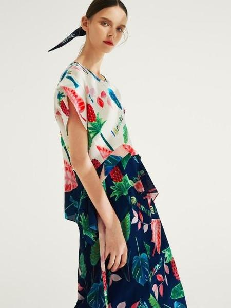 IANNMORE Tropical Patterned Blouse