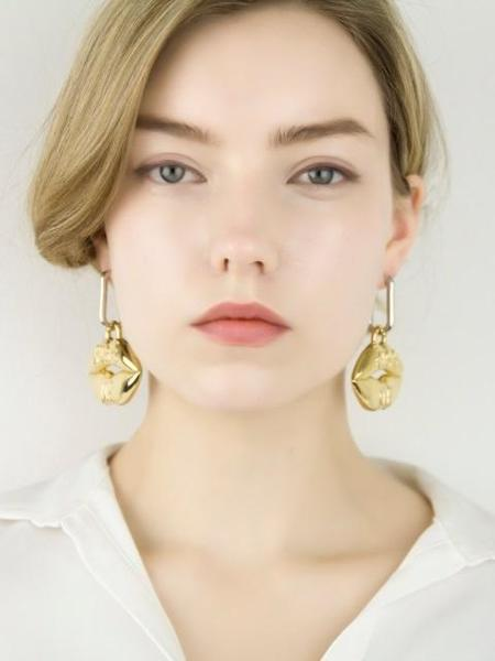 FITZGERALD LOVE Kiss Me Earrings - Gold/Silver