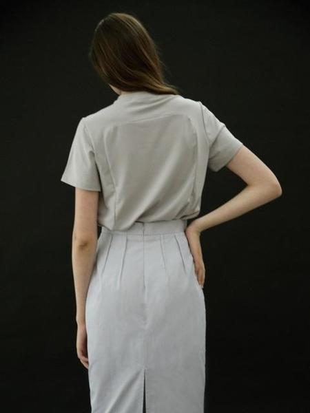 B SLASH B Darts Skirt - Gray