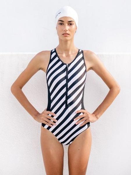 Daze Dayz Atomic One-Piece Swimsuit - Stripe