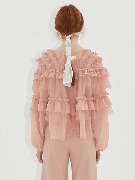 Dew E Dew E Chiffon Twinkle Blouse - Pink