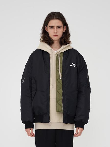Unisex AGENDER MA-1 Reversible Jacket - Black