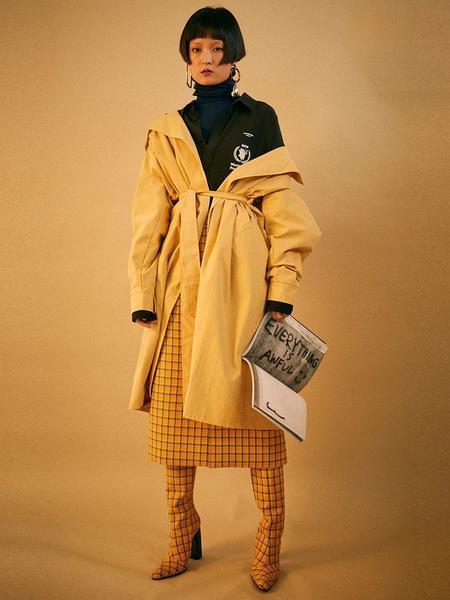 MIGNONNEUF Handmade Trench Coat - Yellow