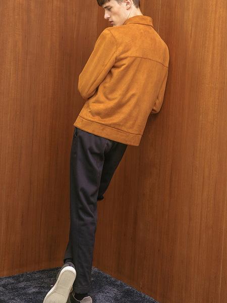 AECA WHITE JK Zip Up Jacket - Camel