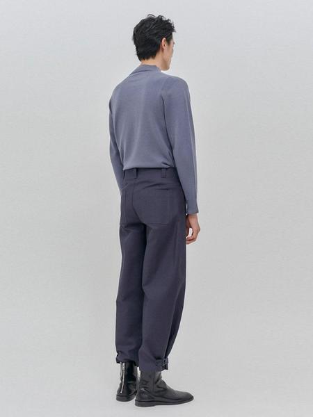 NOUVMAREE Morris Round Neck Knitwear - Dusty Blue