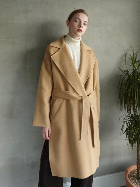 LE Handmade Alpaca Oversize Coat - Camel