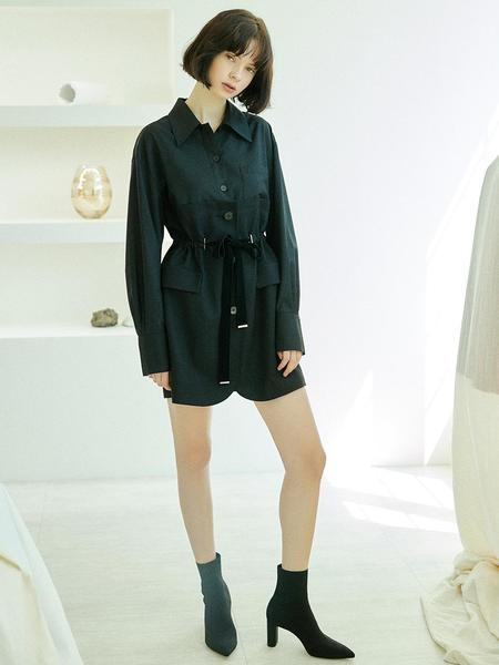 CLUE DE CLARE Half Jacket Dress - Black