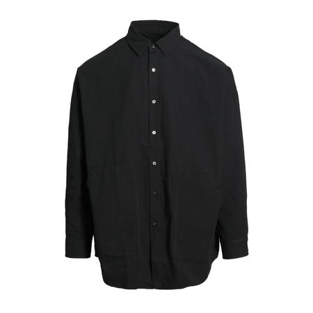 GUSTAV VON ASCHENBACH Double Pocket Long Sleeve Shirt - BLACK