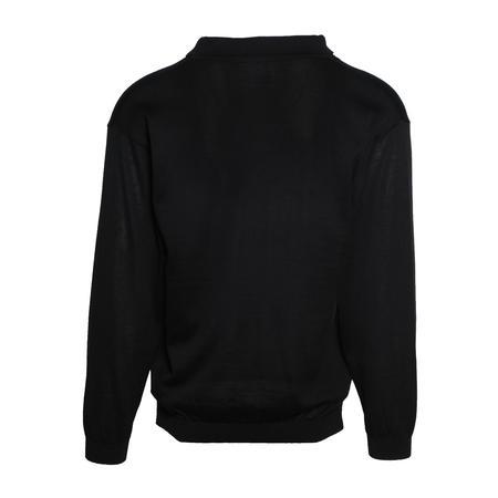 Sasquatchfabrix. Knit Skipper Long Sleeve Shirt - Black
