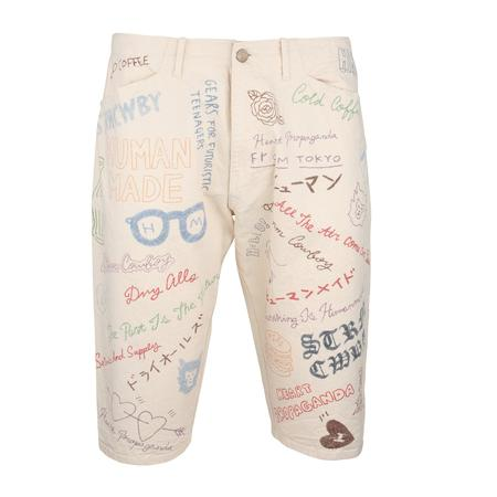 Human Made Memorial Doodle Shorts - WHITE