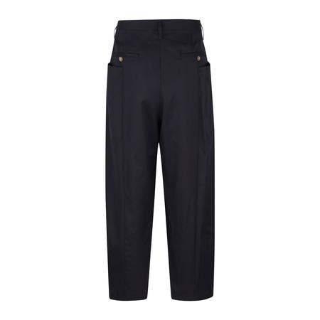 Digawel Pintucked Wool Gabardine Pants - NAVY