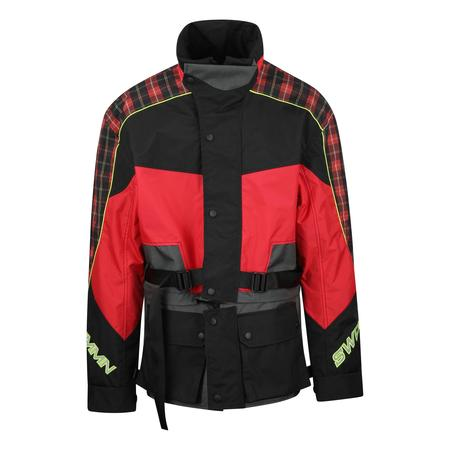 CMMN SWDN Roman Technical Moto Jacket - RED/BLACK CHECK