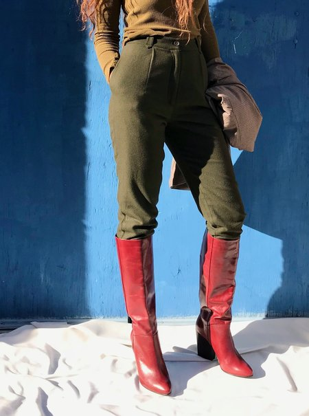 Rachel Comey Zim Knee-High Boots - Bordo