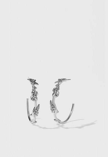 Meadowlark Large Alba Hoop Earrings - Silver