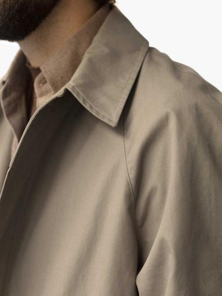 De Bonne Facture Long Mac Raincoat - Earth