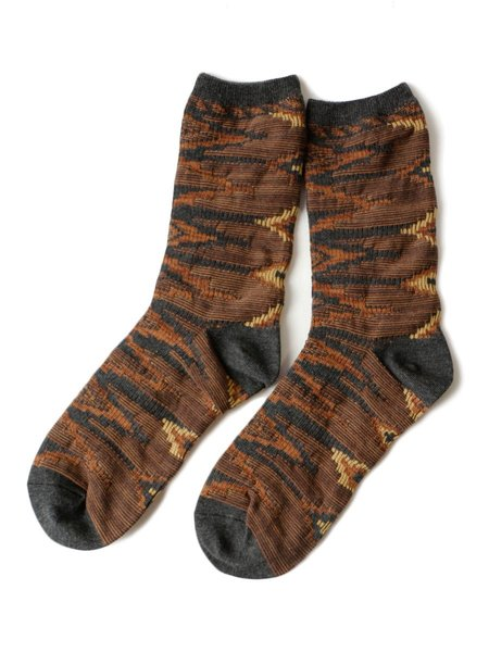 Unisex Kapital 176 Yarns Navajo Socks - Brown