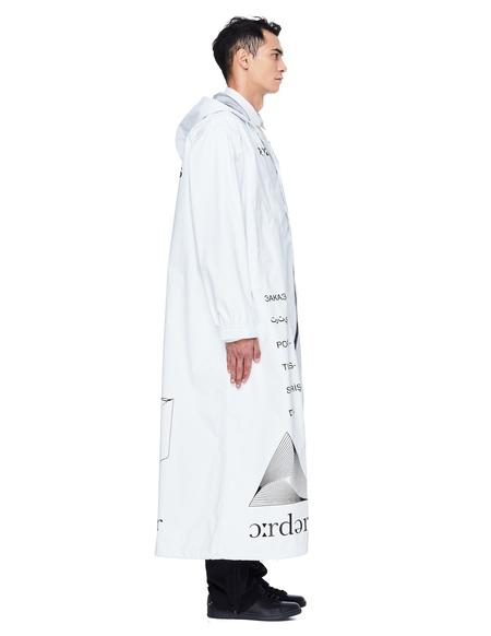 Undercover Printed Nylon Coat - White