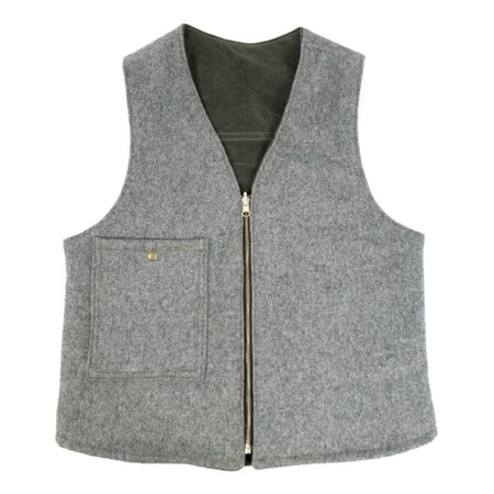 Red Clouds Reversible Vest