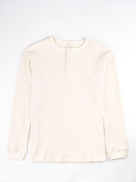 3Sixteen Long Sleeve Thermal Henley - Natural