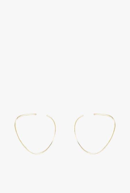SOKO Maxi Sabi Organic Hoop Earrings - Brass