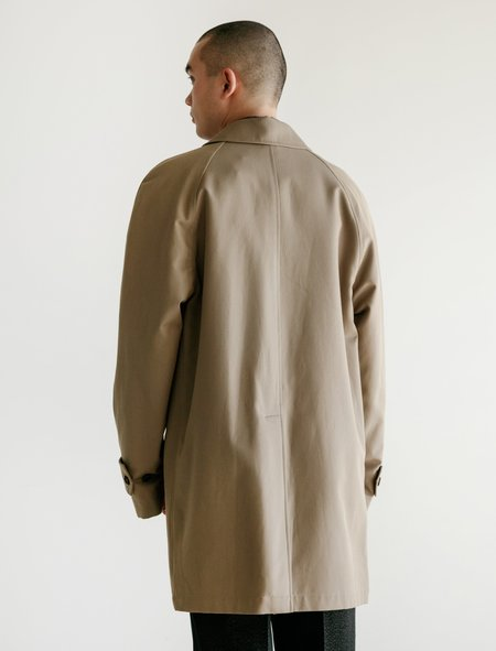 Margaret Howell Short Mac Wool Cotton Gabardine Raincoat - Sand