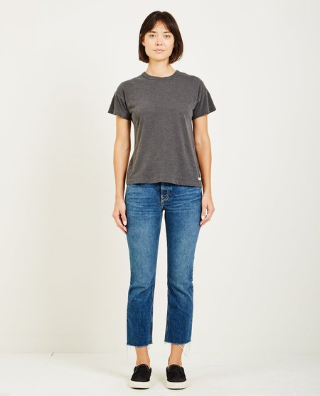 AR321 OATMEAL BOXY SHORT SLEEVE TEE - CHARCOAL