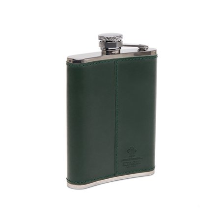 Freemans Sporting Club Ettinger 6oz Captive Top Flask - Green