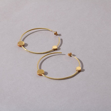 Anne Thomas Cosmos Big Hoops - 18k Gold Filled